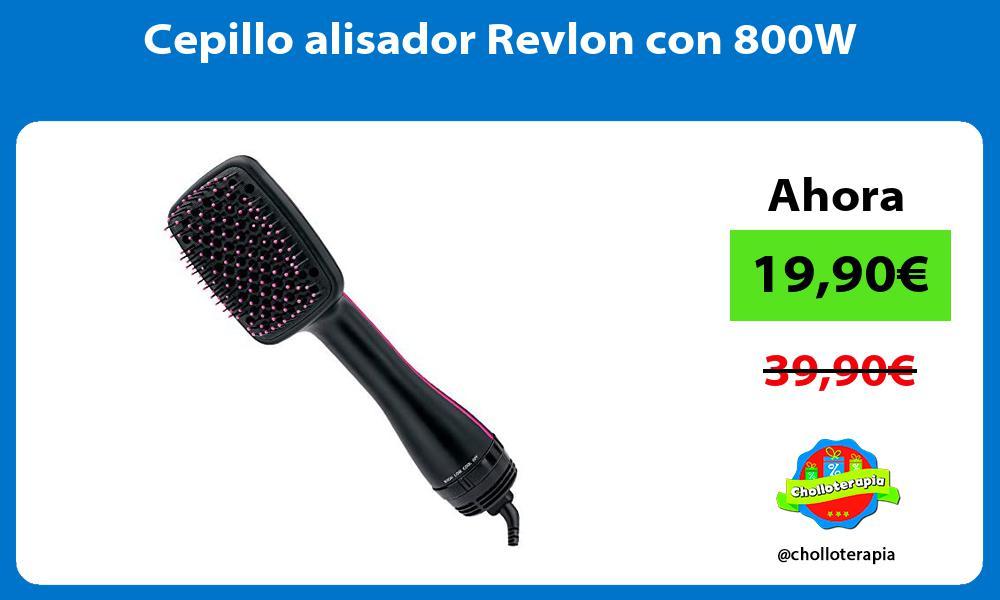 Cepillo alisador Revlon con 800W