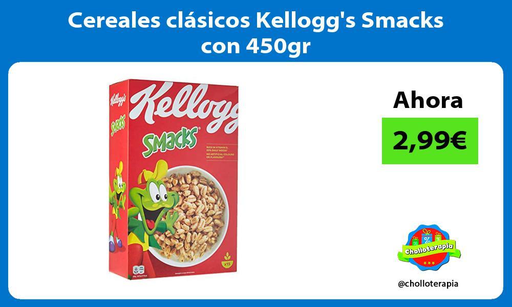Cereales clásicos Kelloggs Smacks con 450gr