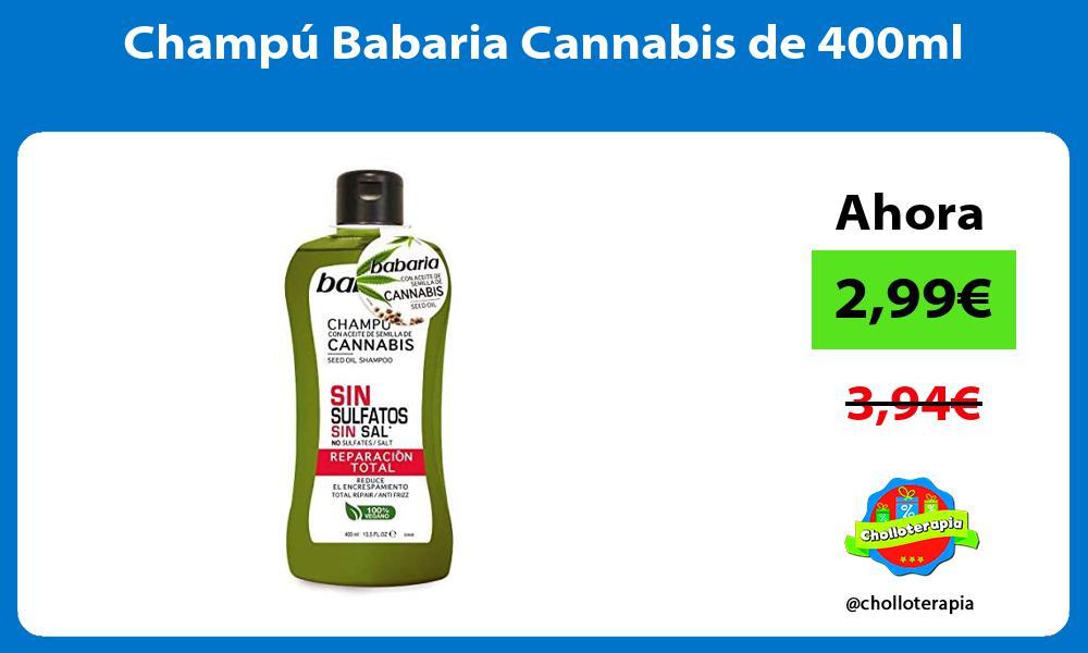 Champú Babaria Cannabis de 400ml