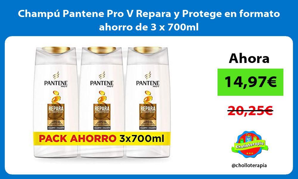 Champú Pantene Pro V Repara y Protege en formato ahorro de 3 x 700ml