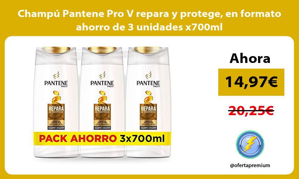 Champú Pantene Pro V repara y protege en formato ahorro de 3 unidades x700ml