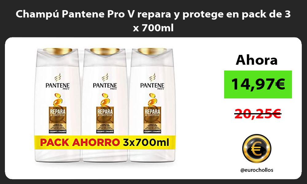 Champú Pantene Pro V repara y protege en pack de 3 x 700ml