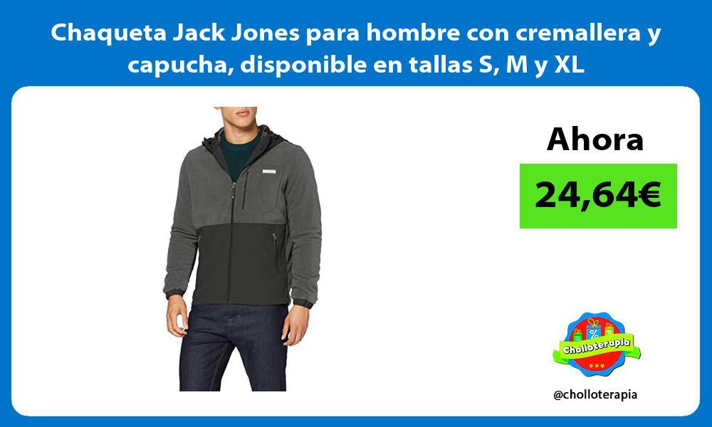 Chaqueta Jack Jones para hombre con cremallera y capucha disponible en tallas S M y XL
