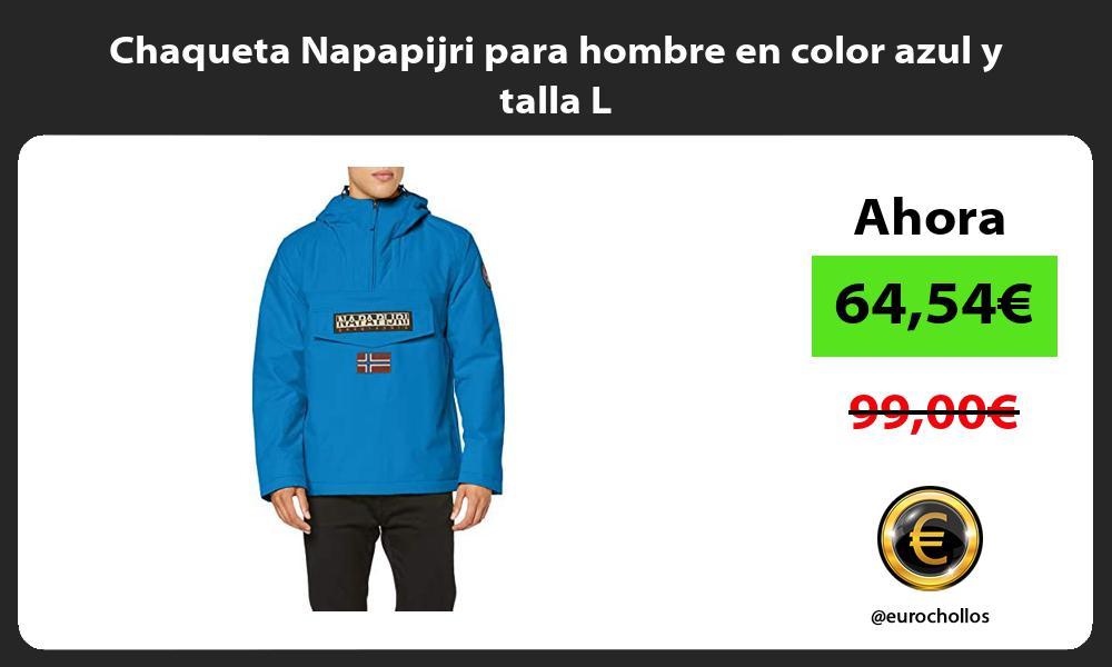 Chaqueta Napapijri para hombre en color azul y talla L