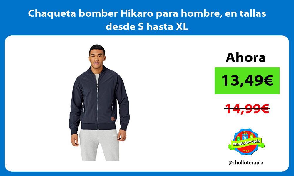 Chaqueta bomber Hikaro para hombre en tallas desde S hasta XL