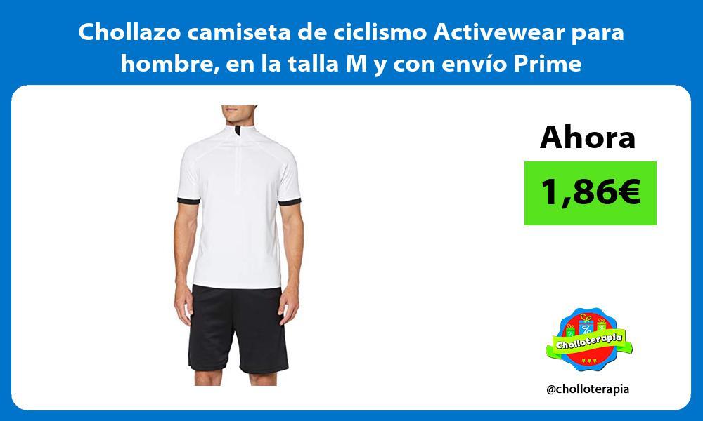 Chollazo camiseta de ciclismo Activewear para hombre en la talla M y con envío Prime
