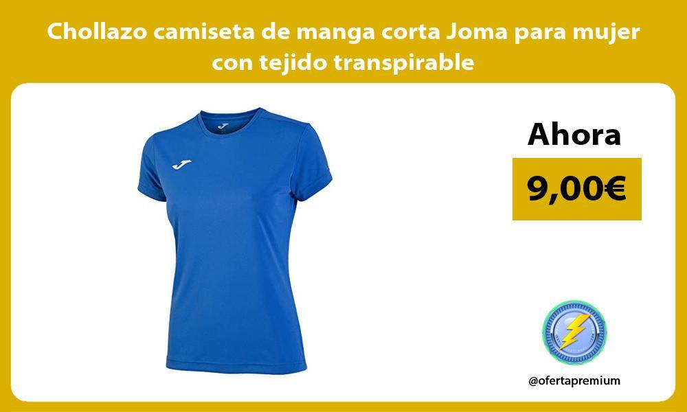 Chollazo camiseta de manga corta Joma para mujer con tejido transpirable