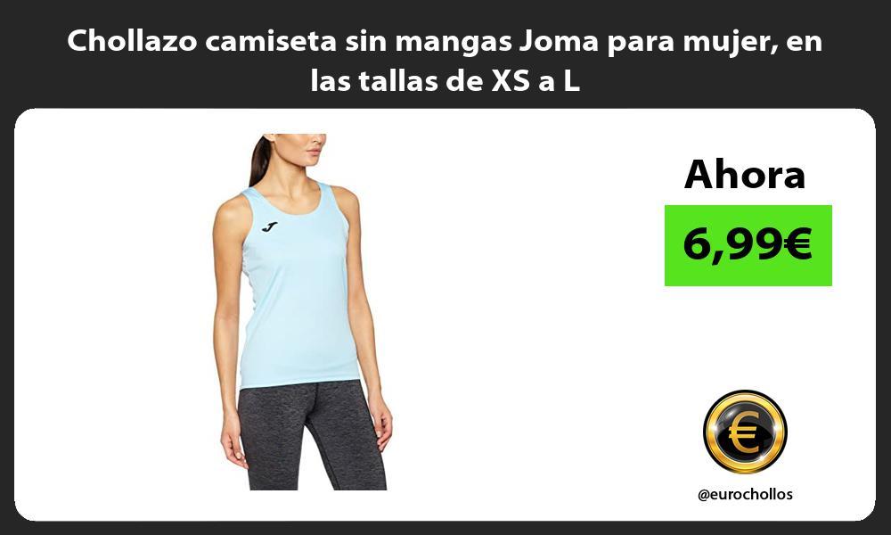 Chollazo camiseta sin mangas Joma para mujer en las tallas de XS a L