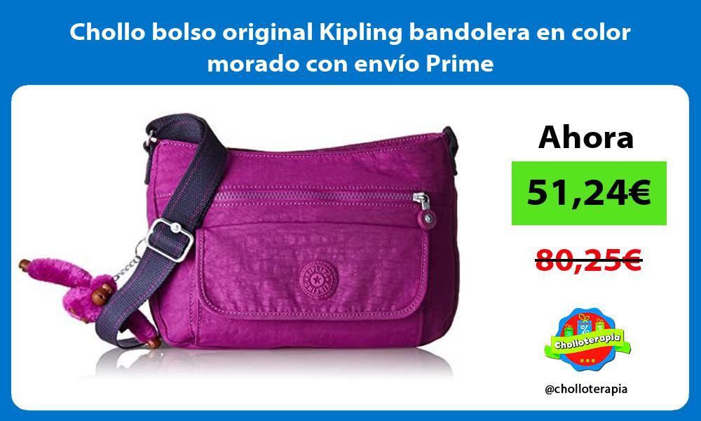 Chollo bolso original Kipling bandolera en color morado con envío Prime