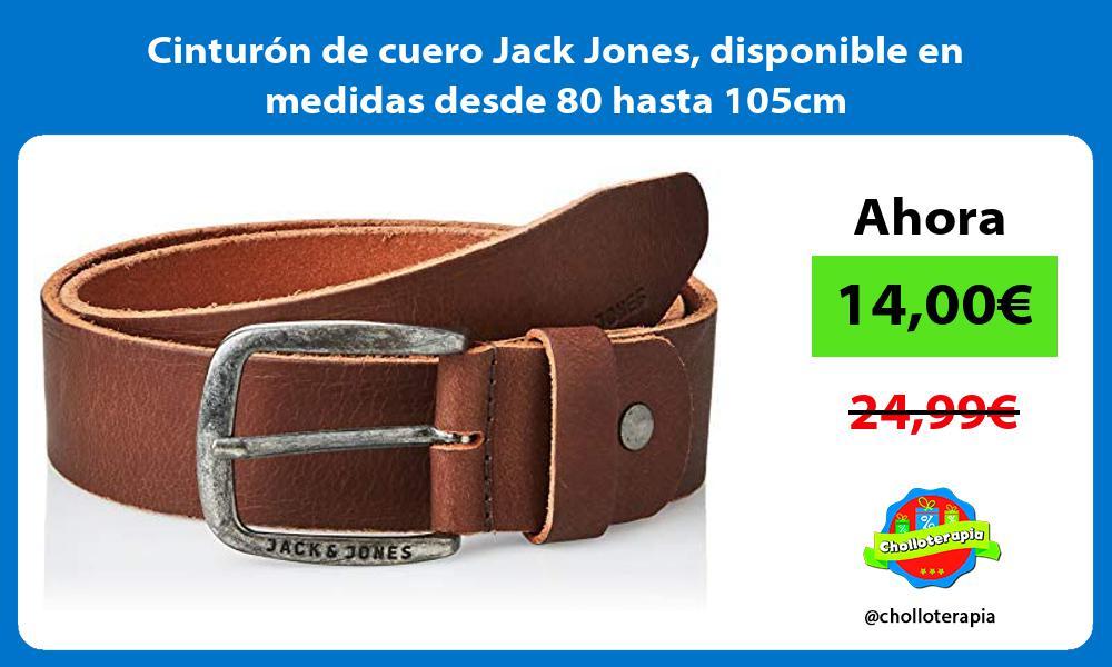 Cinturón de cuero Jack Jones disponible en medidas desde 80 hasta 105cm