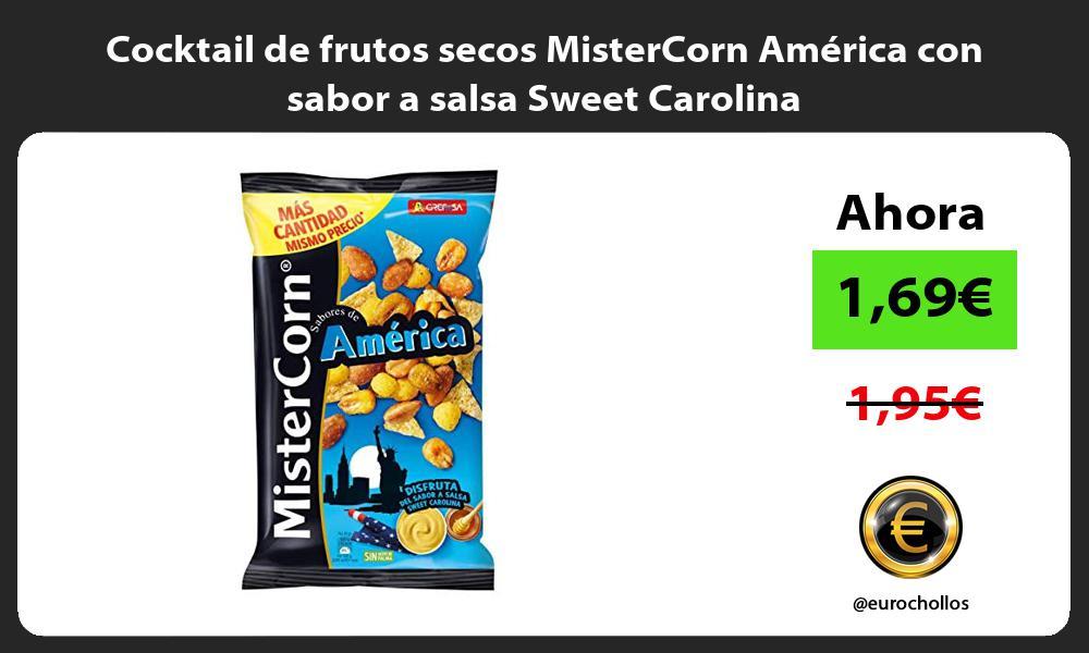 Cocktail de frutos secos MisterCorn América con sabor a salsa Sweet Carolina