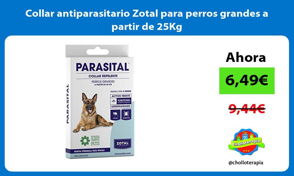 Collar antiparasitario Zotal para perros grandes a partir de 25Kg