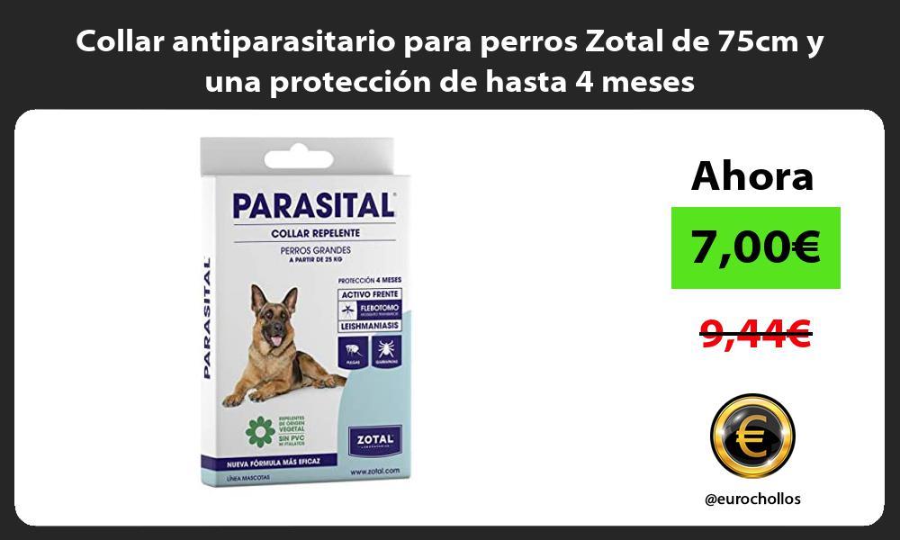 Collar antiparasitario para perros Zotal de 75cm y una protección de hasta 4 meses