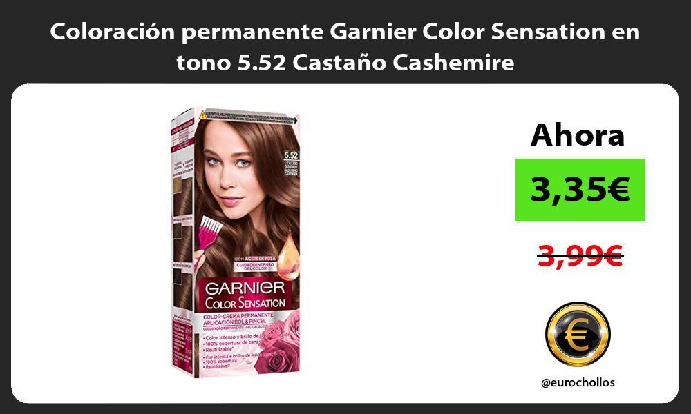 Coloración permanente Garnier Color Sensation en tono 5 52 Castaño Cashemire