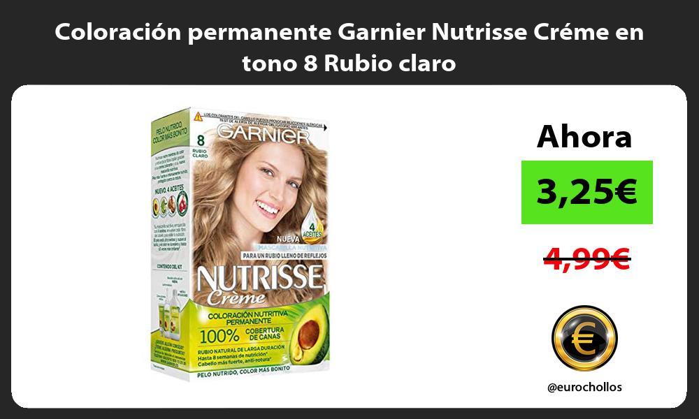 Coloración permanente Garnier Nutrisse Créme en tono 8 Rubio claro