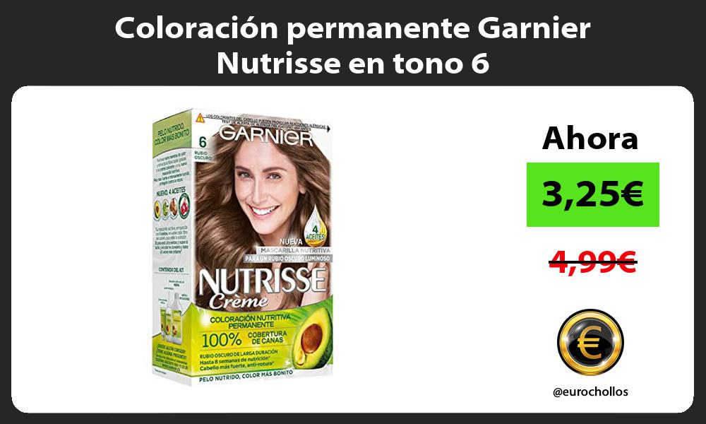 Coloración permanente Garnier Nutrisse en tono 6