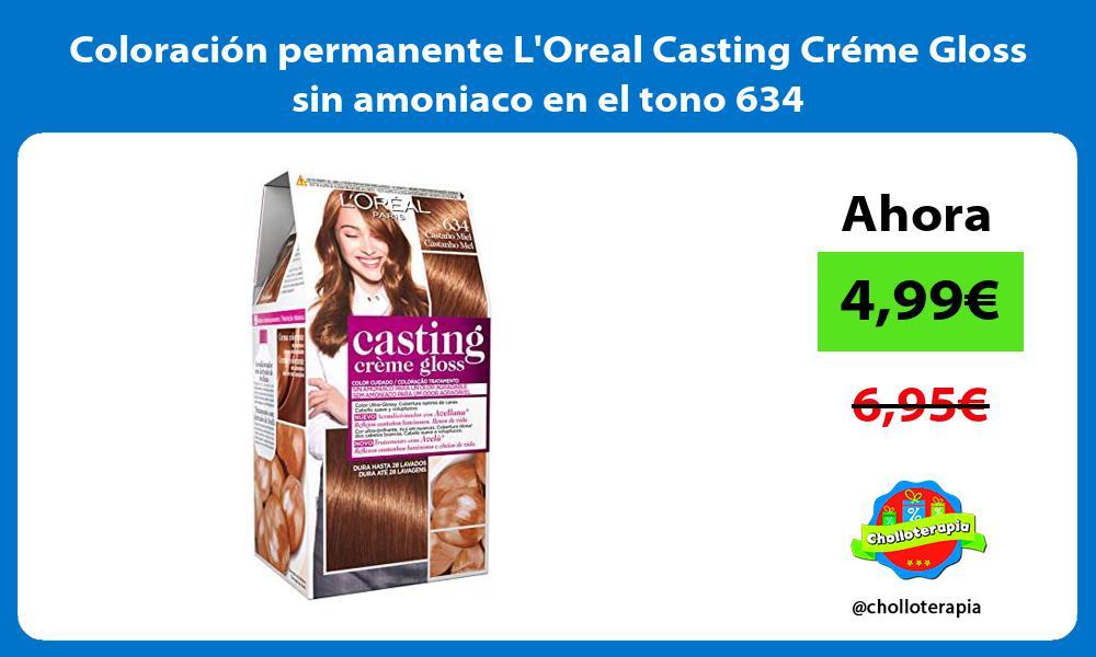 Coloración permanente LOreal Casting Créme Gloss sin amoniaco en el tono 634