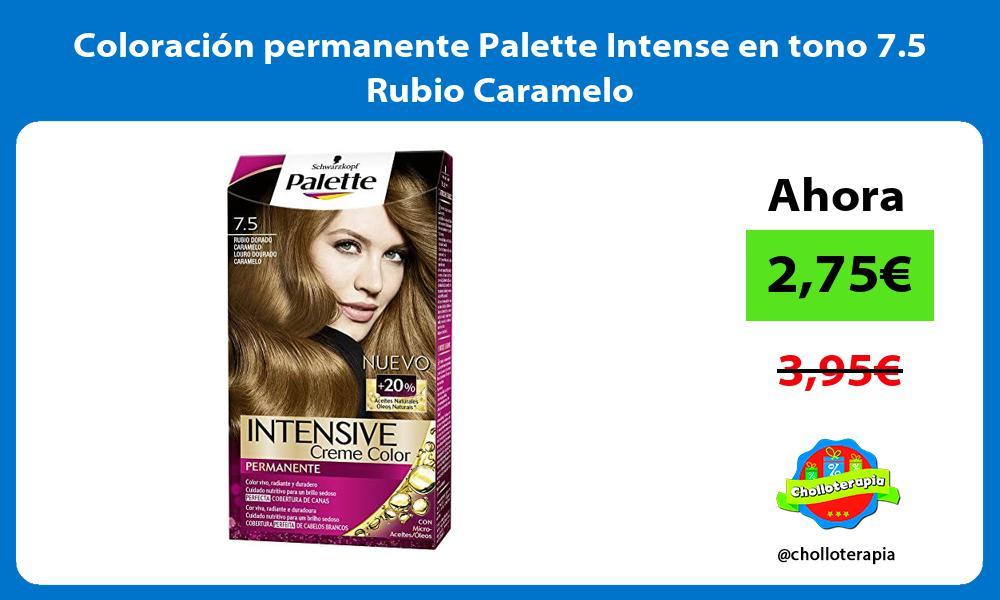 Coloración permanente Palette Intense en tono 7 5 Rubio Caramelo