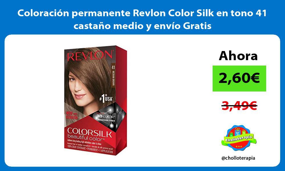 Coloración permanente Revlon Color Silk en tono 41 castaño medio y envío Gratis