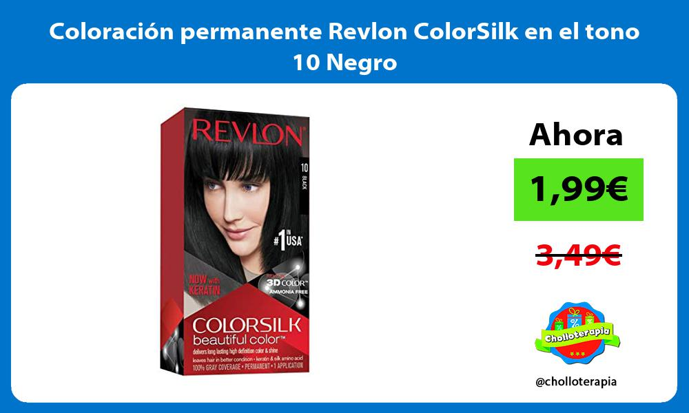 Coloración permanente Revlon ColorSilk en el tono 10 Negro