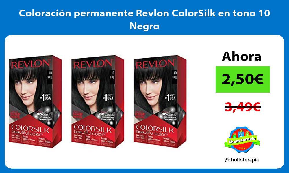 Coloración permanente Revlon ColorSilk en tono 10 Negro