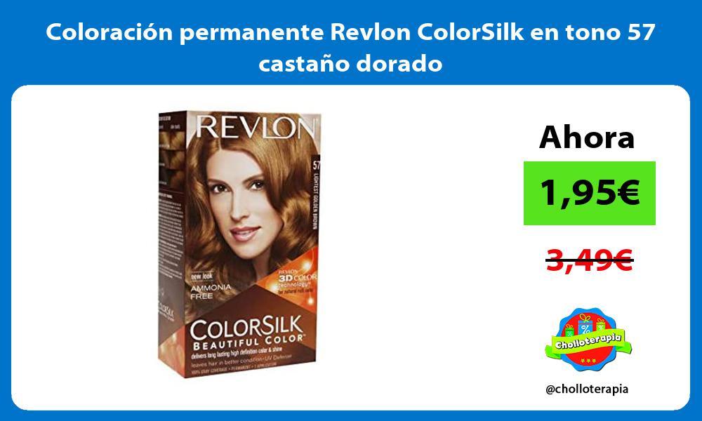Coloración permanente Revlon ColorSilk en tono 57 castaño dorado