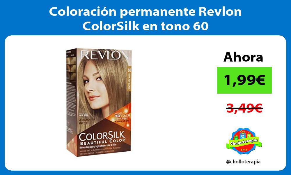 Coloración permanente Revlon ColorSilk en tono 60