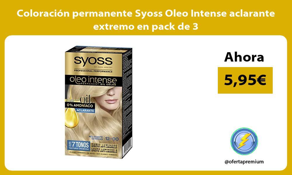 Coloración permanente Syoss Oleo Intense aclarante extremo en pack de 3
