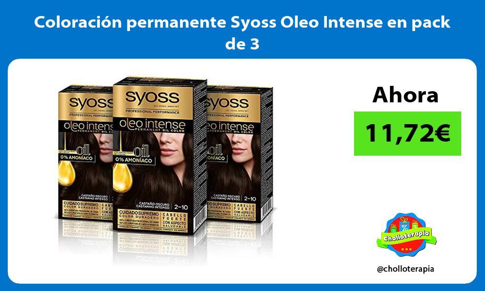 Coloración permanente Syoss Oleo Intense en pack de 3