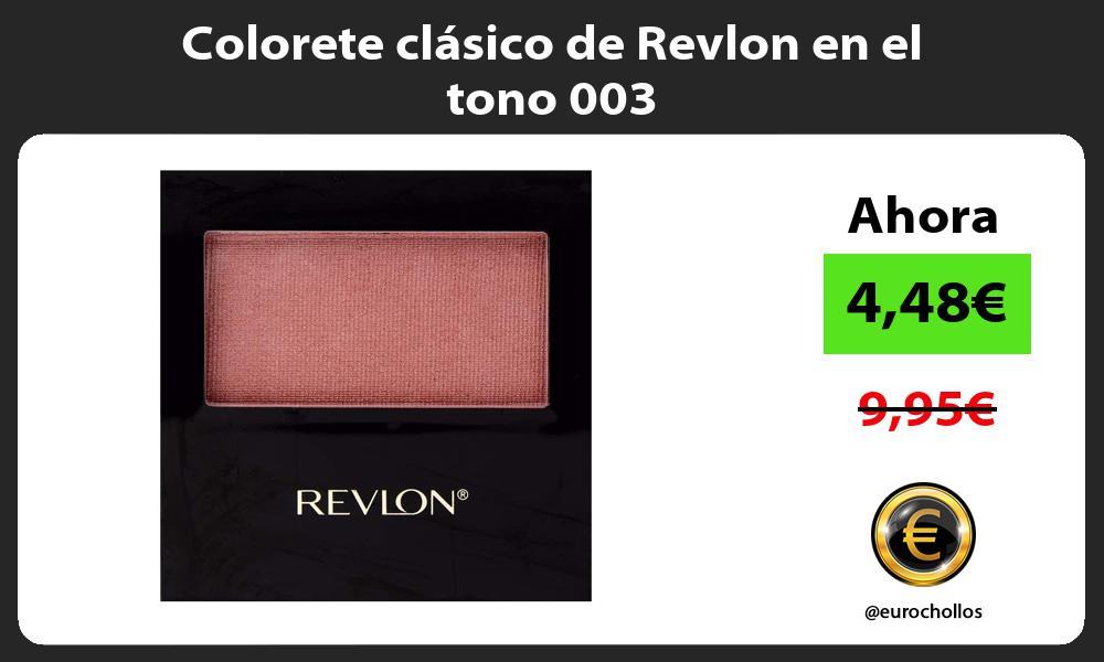 Colorete clásico de Revlon en el tono 003
