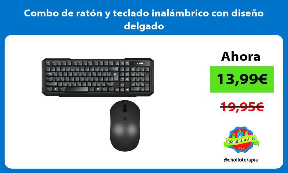 Combo de ratón y teclado inalámbrico con diseño delgado