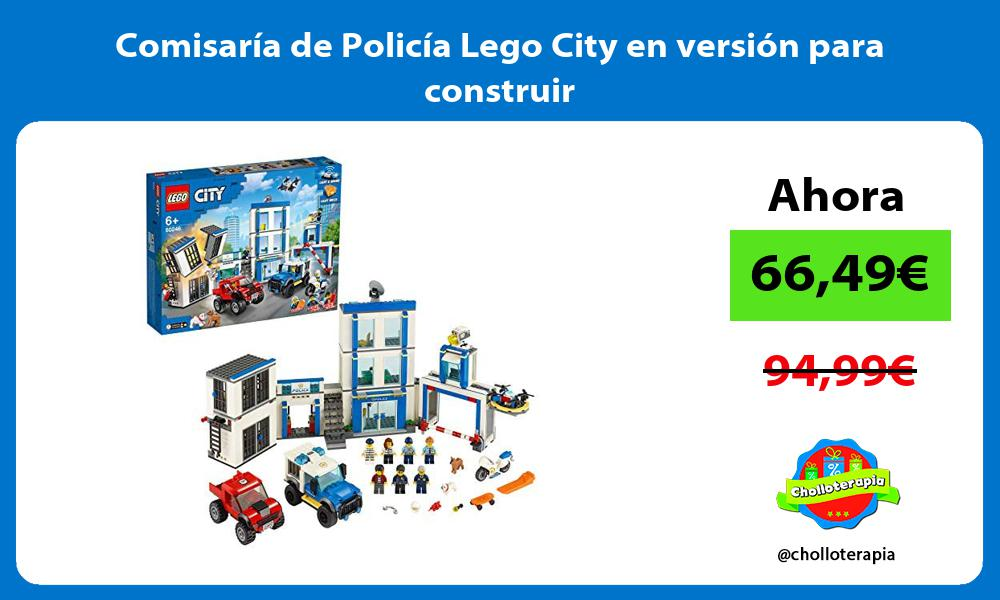 Comisaría de Policía Lego City en versión para construir