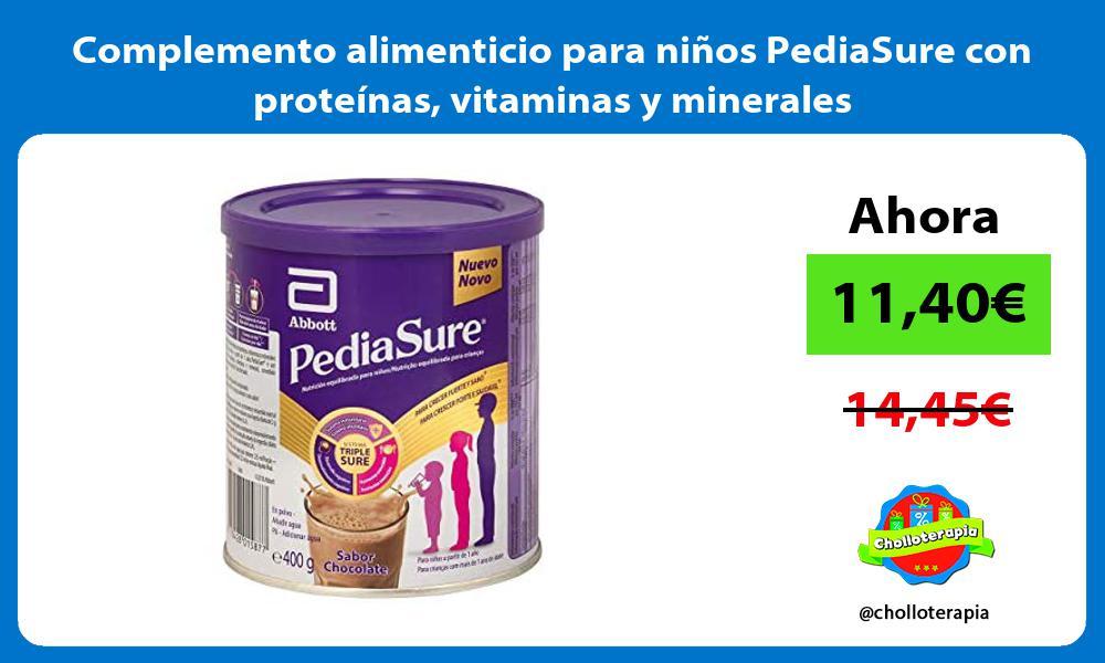 Complemento alimenticio para niños PediaSure con proteínas vitaminas y minerales