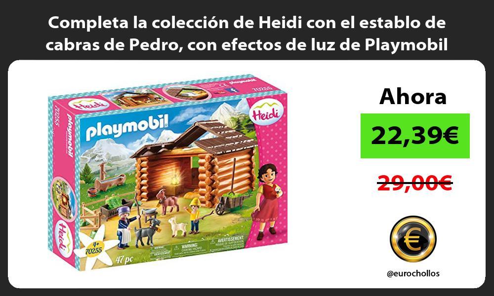 Completa la colección de Heidi con el establo de cabras de Pedro con efectos de luz de Playmobil