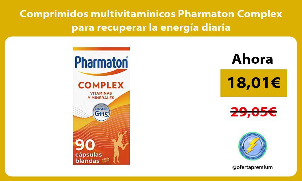 Comprimidos multivitamínicos Pharmaton Complex para recuperar la energía diaria