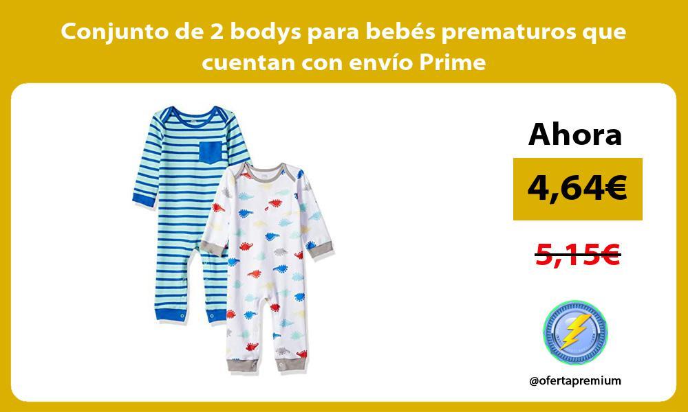 Conjunto de 2 bodys para bebés prematuros que cuentan con envío Prime