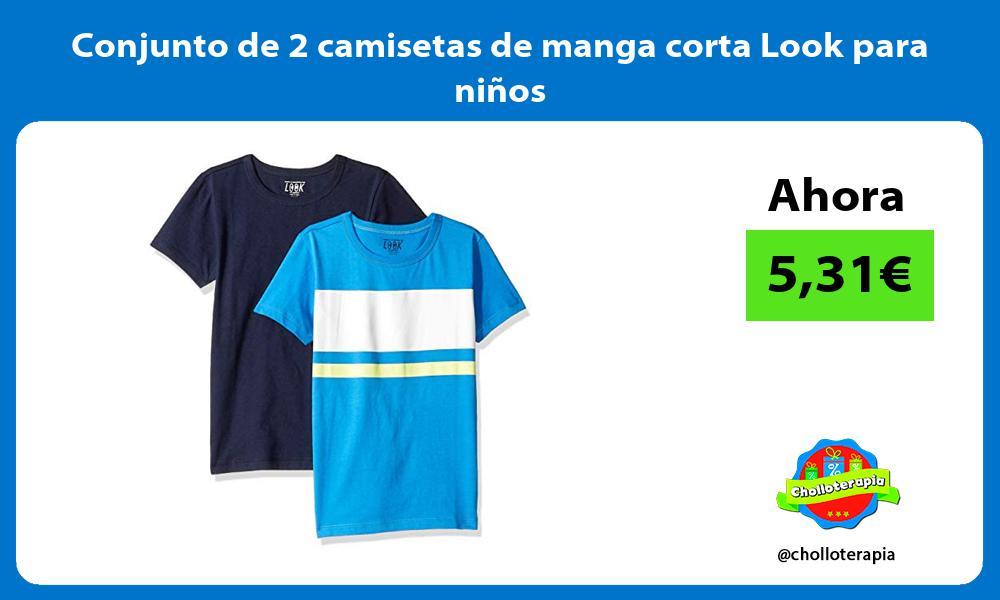 Conjunto de 2 camisetas de manga corta Look para niños