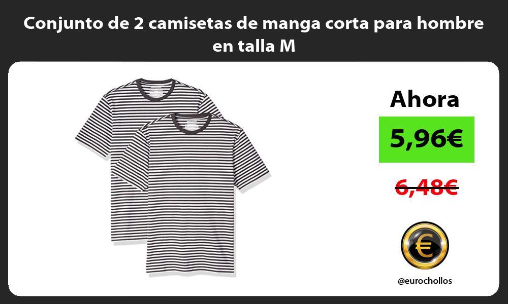 Conjunto de 2 camisetas de manga corta para hombre en talla M