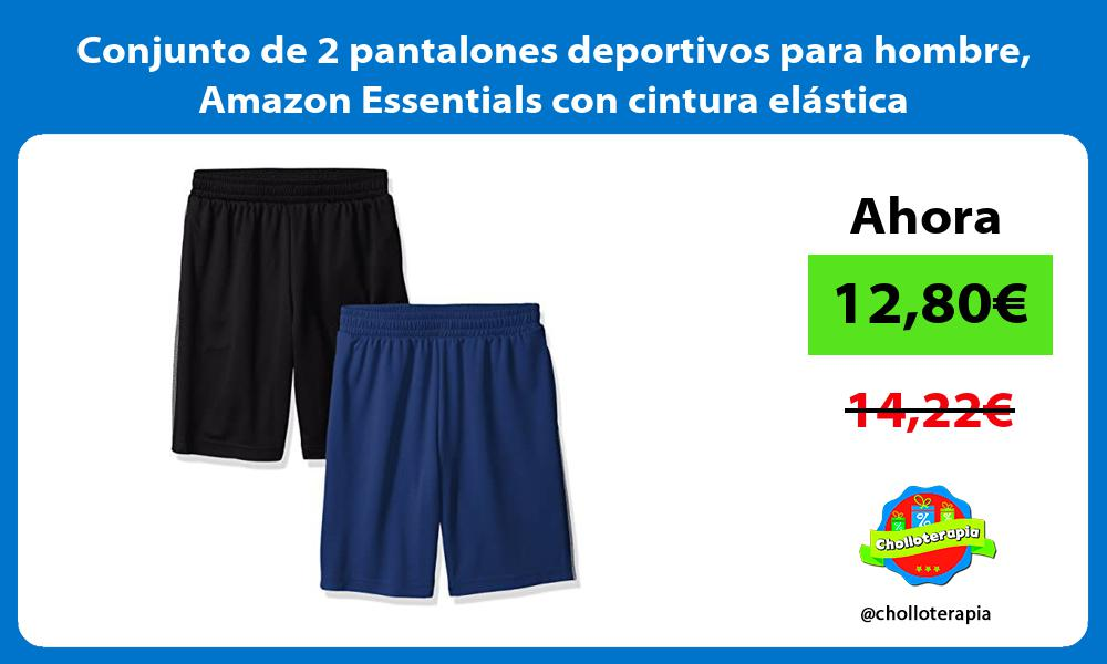 Conjunto de 2 pantalones deportivos para hombre Amazon Essentials con cintura elástica