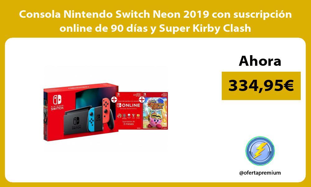 Consola Nintendo Switch Neon 2019 con suscripción online de 90 días y Super Kirby Clash