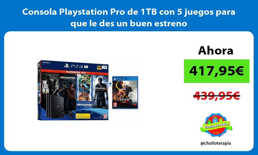 Consola Playstation Pro de 1TB con 5 juegos para que le des un buen estreno