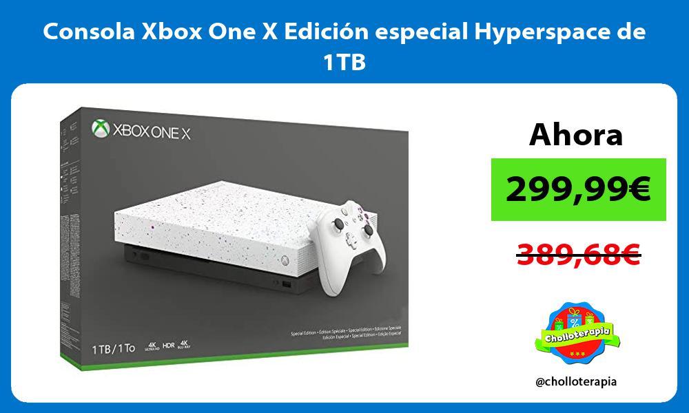 Consola Xbox One X Edición especial Hyperspace de 1TB