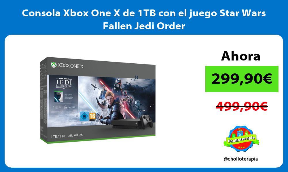 Consola Xbox One X de 1TB con el juego Star Wars Fallen Jedi Order
