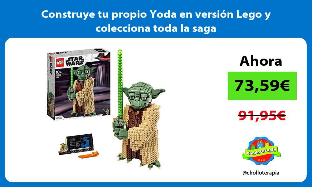 Construye tu propio Yoda en versión Lego y colecciona toda la saga