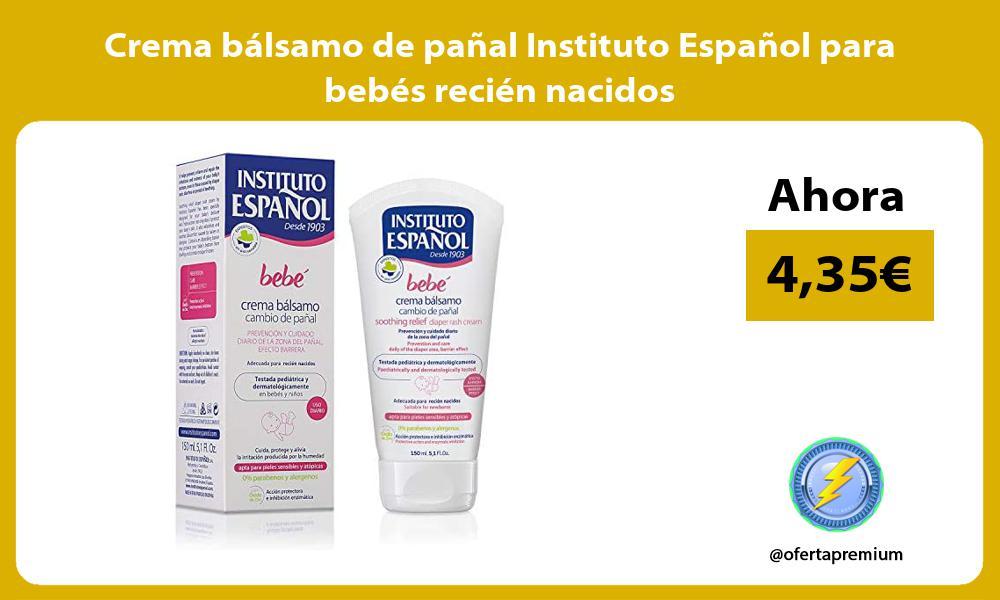 Crema bálsamo de pañal Instituto Español para bebés recién nacidos