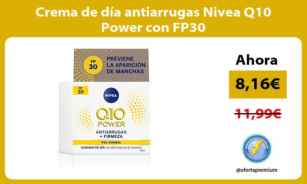 Crema de día antiarrugas Nivea Q10 Power con FP30