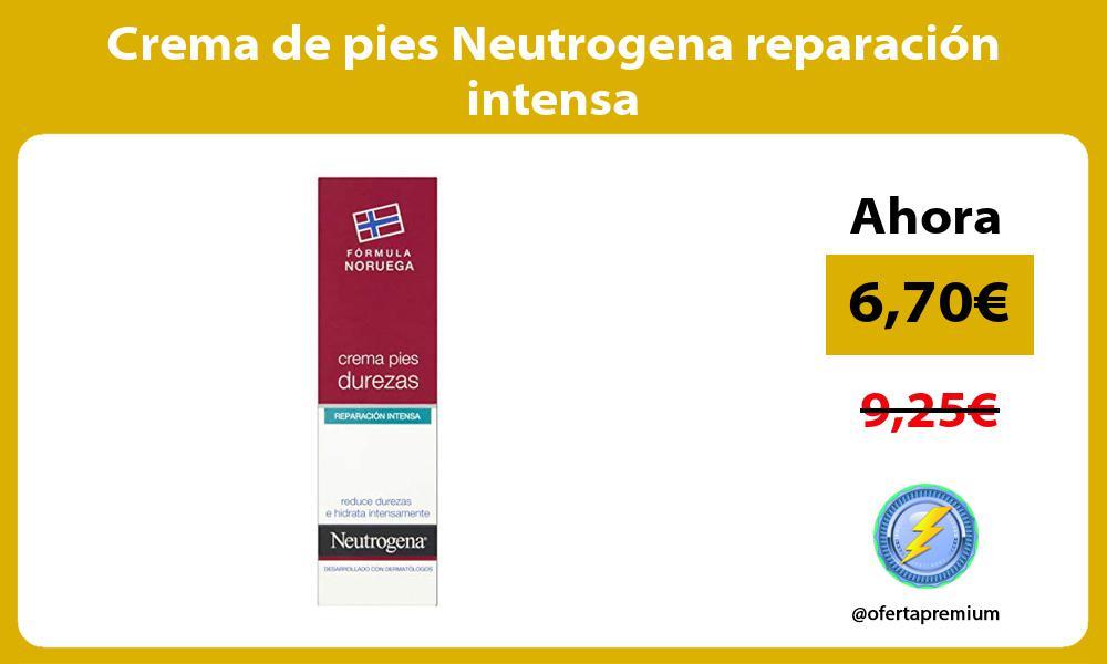 Crema de pies Neutrogena reparación intensa