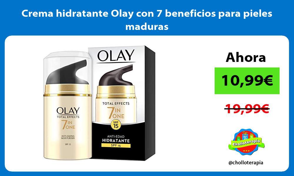 Crema hidratante Olay con 7 beneficios para pieles maduras
