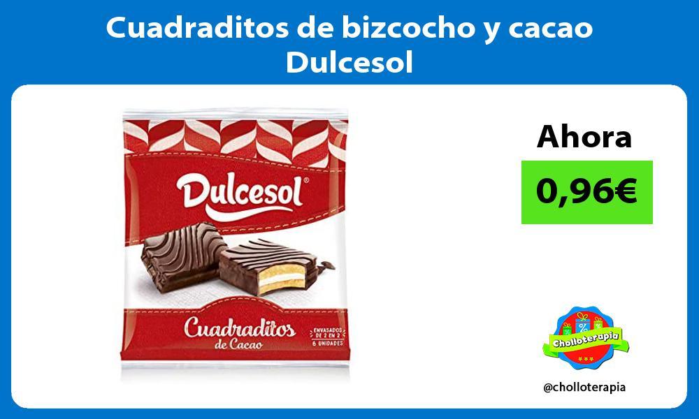Cuadraditos de bizcocho y cacao Dulcesol