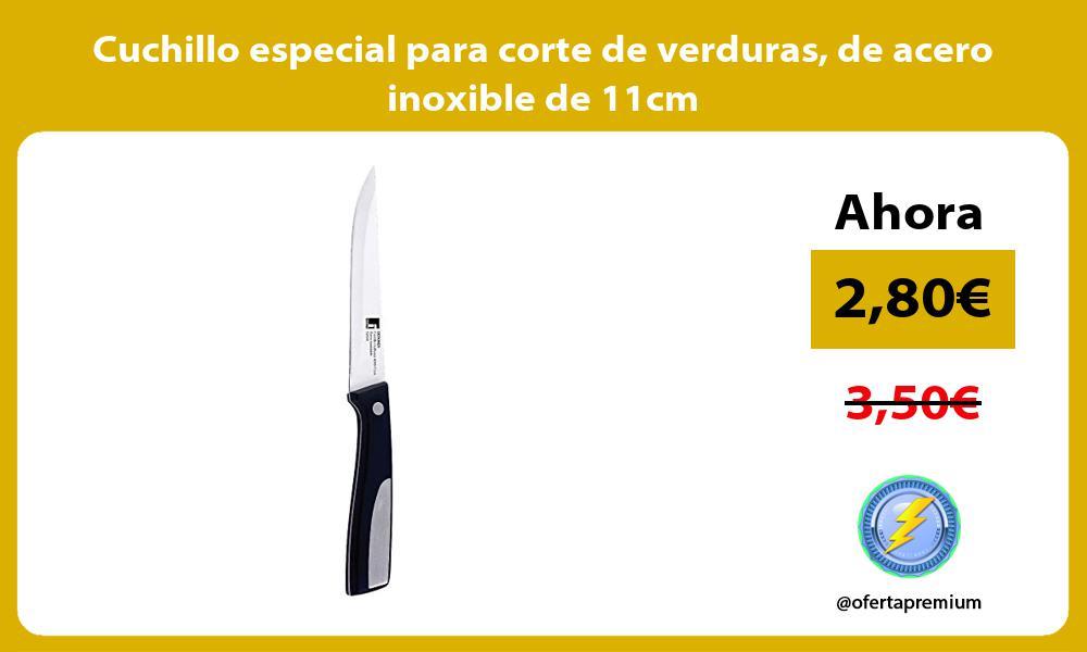 Cuchillo especial para corte de verduras de acero inoxible de 11cm